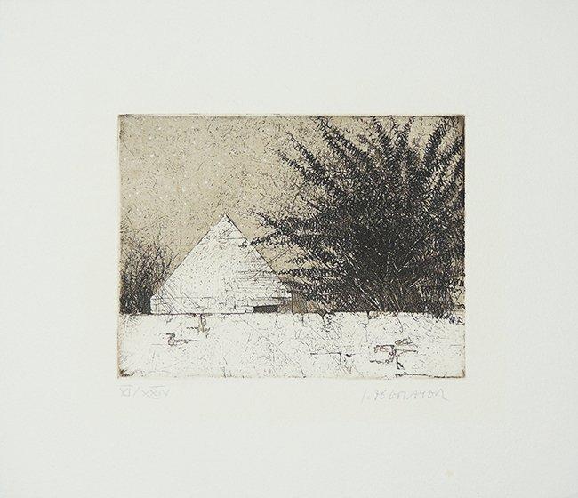 Leo Zogmayer etching VI/XXIV, signed