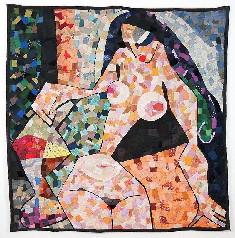 Roland Pleterski, female nude, wall hanging