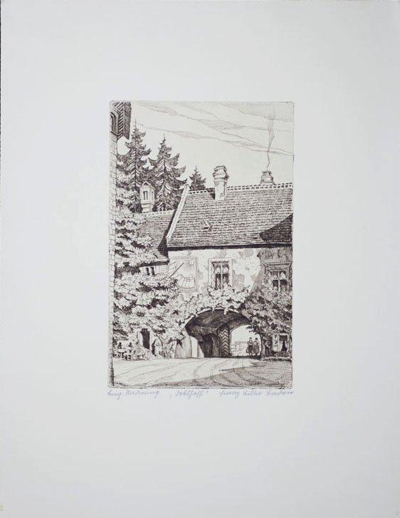 """Franz Bilko, Castle in Weikersdorf """"Doblhoff"""" in Baden,"""