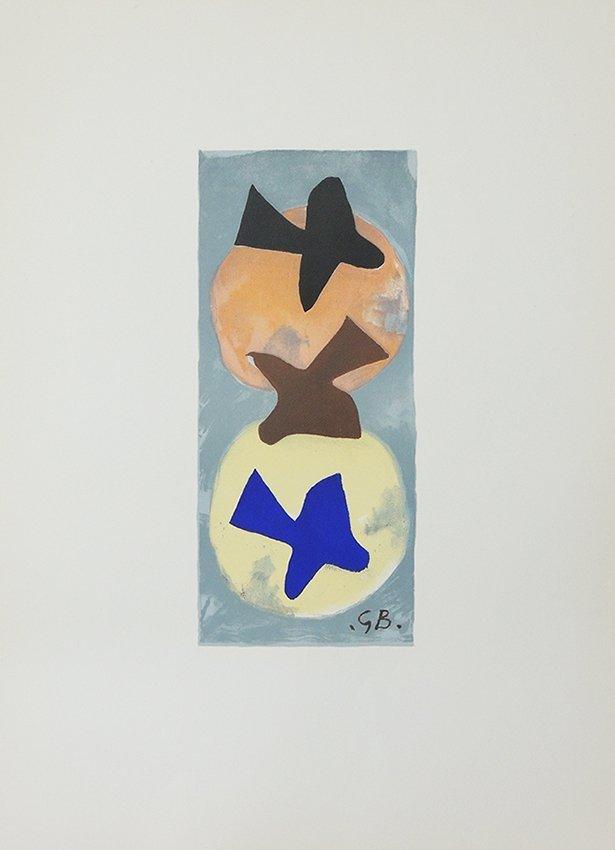 George Braque, soleil et lune, original lithography in