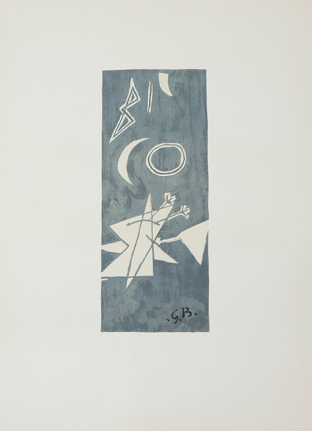 George Braque, oiseaux, original lithography in colour