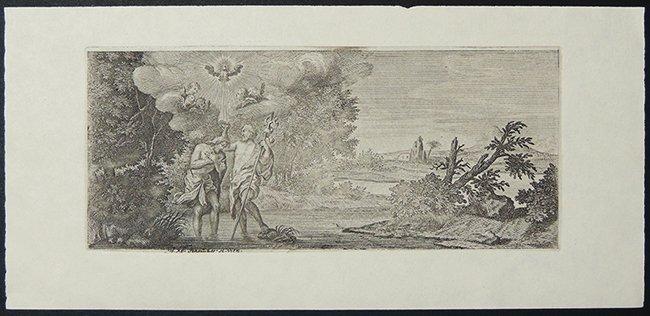 Jakob Matthias Schmuzer, copper engraving, signed