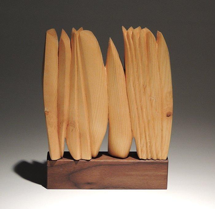 Klaus Jahn, wooden sculpture, signed