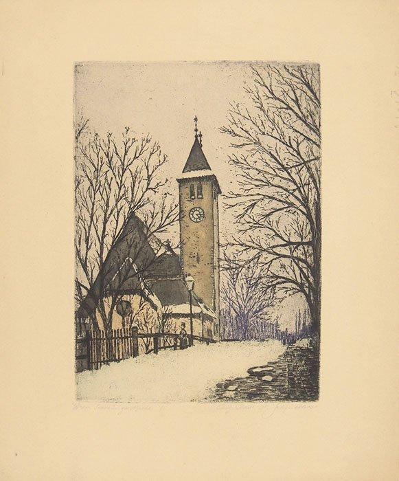 H. Schindler, Vienna, Sieveringer church 1883