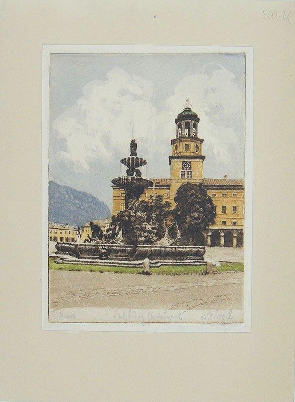 Salzburg, Brunnen auf Residenzplatz , Neue Residenz