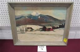 Oil on Board by Listed Artist Harold Sleichter Etter