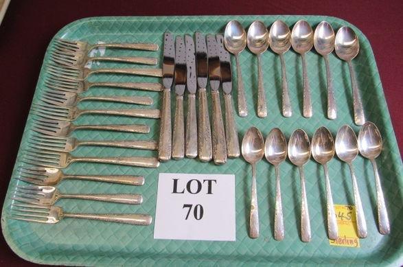30 Pc Sterling Silver Flatware Set