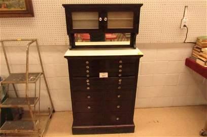 American Cabinet Company Wood Dentist Cabinet