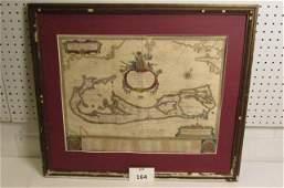 Circa 1620 Map of Bermuda, William Blaeu, Amsterdam