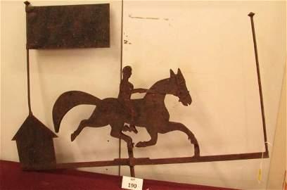 Horse and rider weathervane