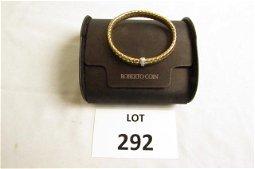 18kt Gold Roberto Coin Flexible Diamond bracelet