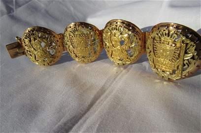 18kt Gold Mayan design bracelet