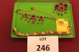 Three piece antique jewelry lot