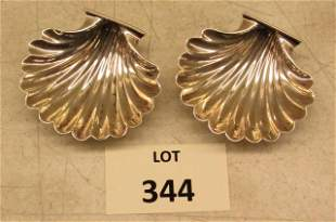 A pair of Sterling Shell Dishes