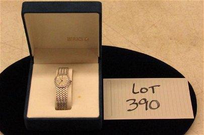 18kt White Gold and Diamond Baume Mercier Wristwatch