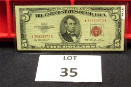 7-$5 US Notes-Red Seal-1953/63