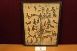 "Framed print ""Blackbirds"""