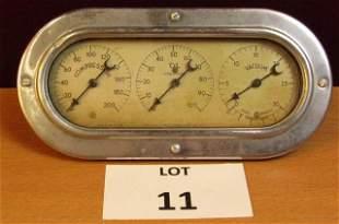 Vintage automobile gauge cluster