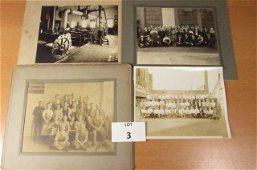 """Log of 10 Early B/W """"Industrial/Factory Photos"""