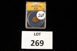1955P Wheat Cent-Double Die (ANACS-AU50)