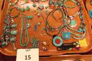 Southwestern jewelry lot