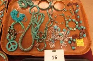 Turquoise, Bead lot