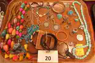 Colored beads, rings, bangles