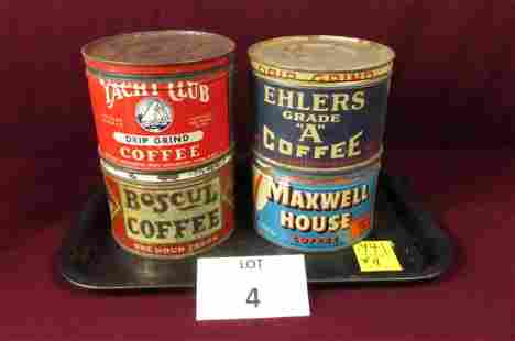 Vintage Coffee can lot