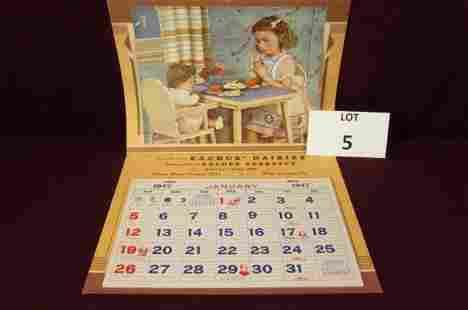 Eachus Dairies 1947 calendar