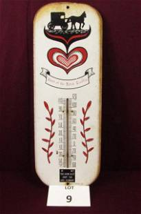 Pennsylvania Dutch painted tin thermometer