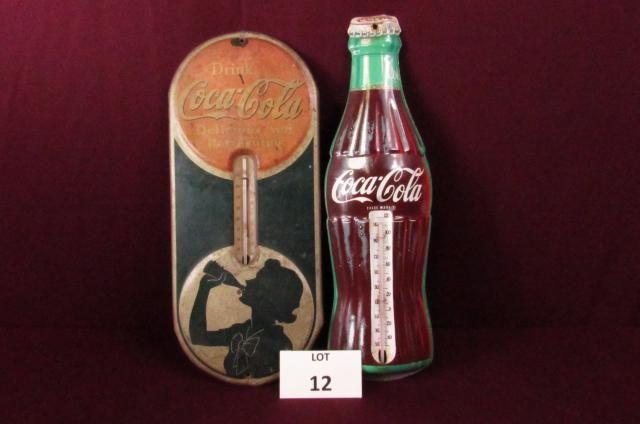 Two Coca-Cola thermometers