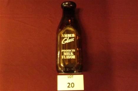 Amber quart Winnisquam Farms, Vt. milk bottle