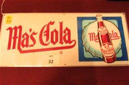 Ma's Cola soda sign