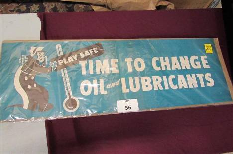 Play Safe Lubricants sign