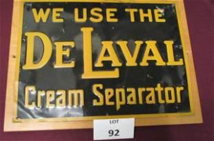 1930 DeLaval sign
