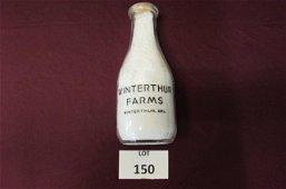 Rare Winterthur Farms 1 quart milk bottle