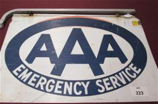 AAA Emergency Service two sided sign