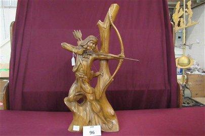 Cherokee wood sculpture