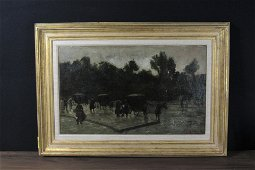 Signed Albert Wenzell oil on board.