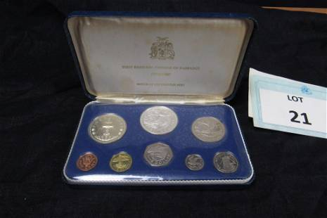 1973 Barbados Proof Set from Franklin Mint