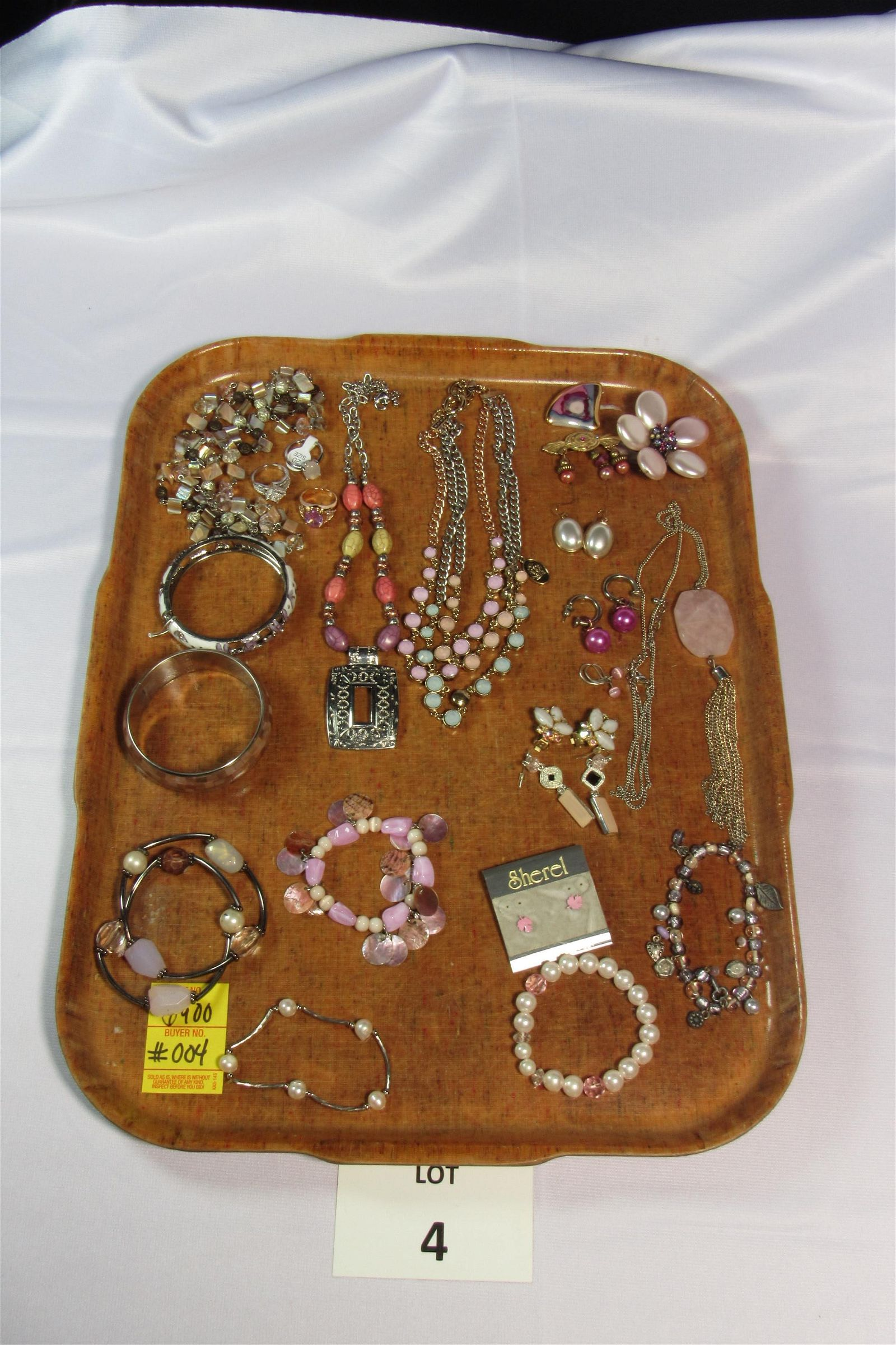 Eclectic Lot of Pastel Toned Costume Jewelry