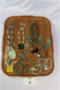 Beautiful Mixed Lot of Green and Turquoise Toned
