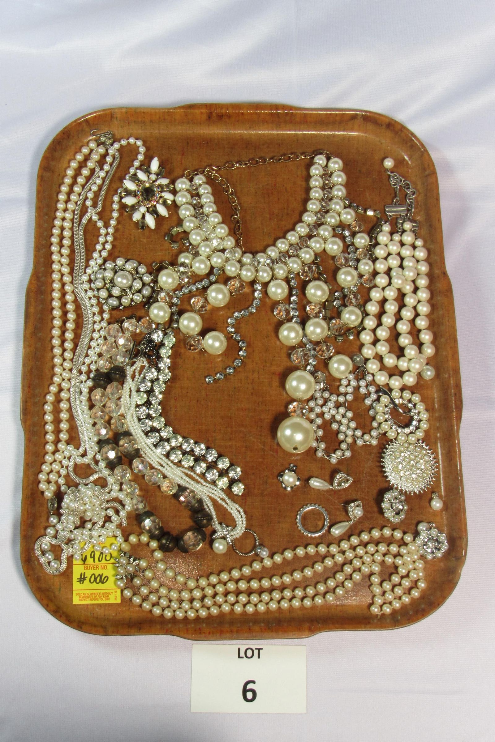 Lot of Elegant Pearl and Silver Tone Costume Jewelry