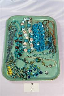Lot of Beaded and Turquoise Toned Costume Jewelry