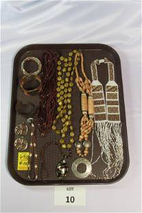 Lot of Earth Toned Costume Jewelry