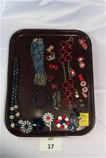 Lot of Red, White and Blue Themed Costume Jewelry