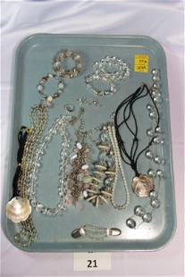 Lot of Costume Jewelry in Muted Tones