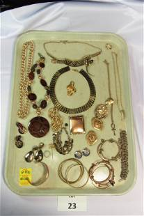 Gold Toned Costume Jewelry Lot