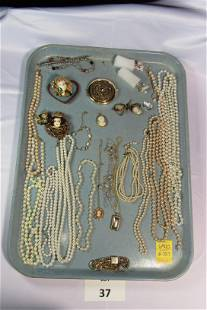 Lot of Costume Jewelry Featuring Cameos