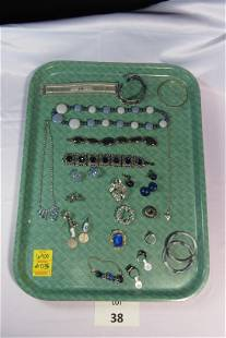 Lot of Blue Toned Costume Jewelry